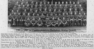 Officers of 1st Battalion Pembs Home Guard